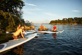 Balade Stand Up Paddle Golfe du Morbihan Kerners Kayak