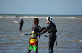 Stage Kitesurf 4 cours à Cabourg en Normandie